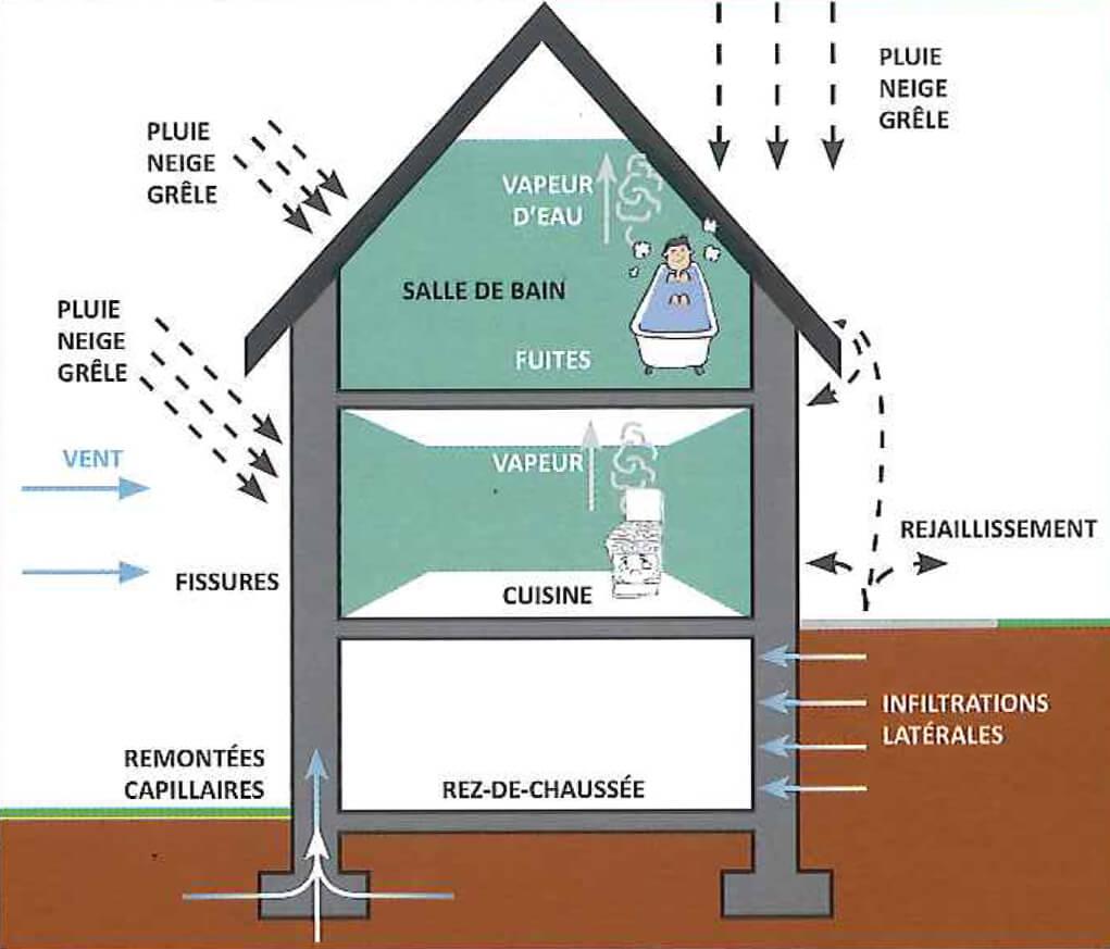 Devis Traitement Humidité  Verviers → Prix : Entreprise, diagnostic remontées capillaires murs